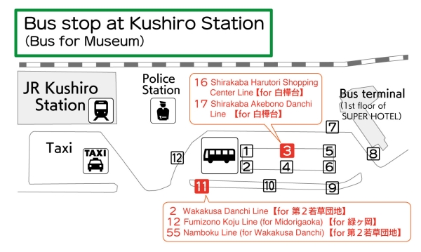 Map of bus terminal at Station